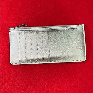 A New Day Small Thin Silver Wallet